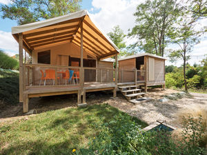 Midi pyr n es tente lodge 6 personnes 3 chambres 1 salle de bain - Tente camping 3 chambres ...