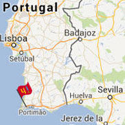 lagos portugal map